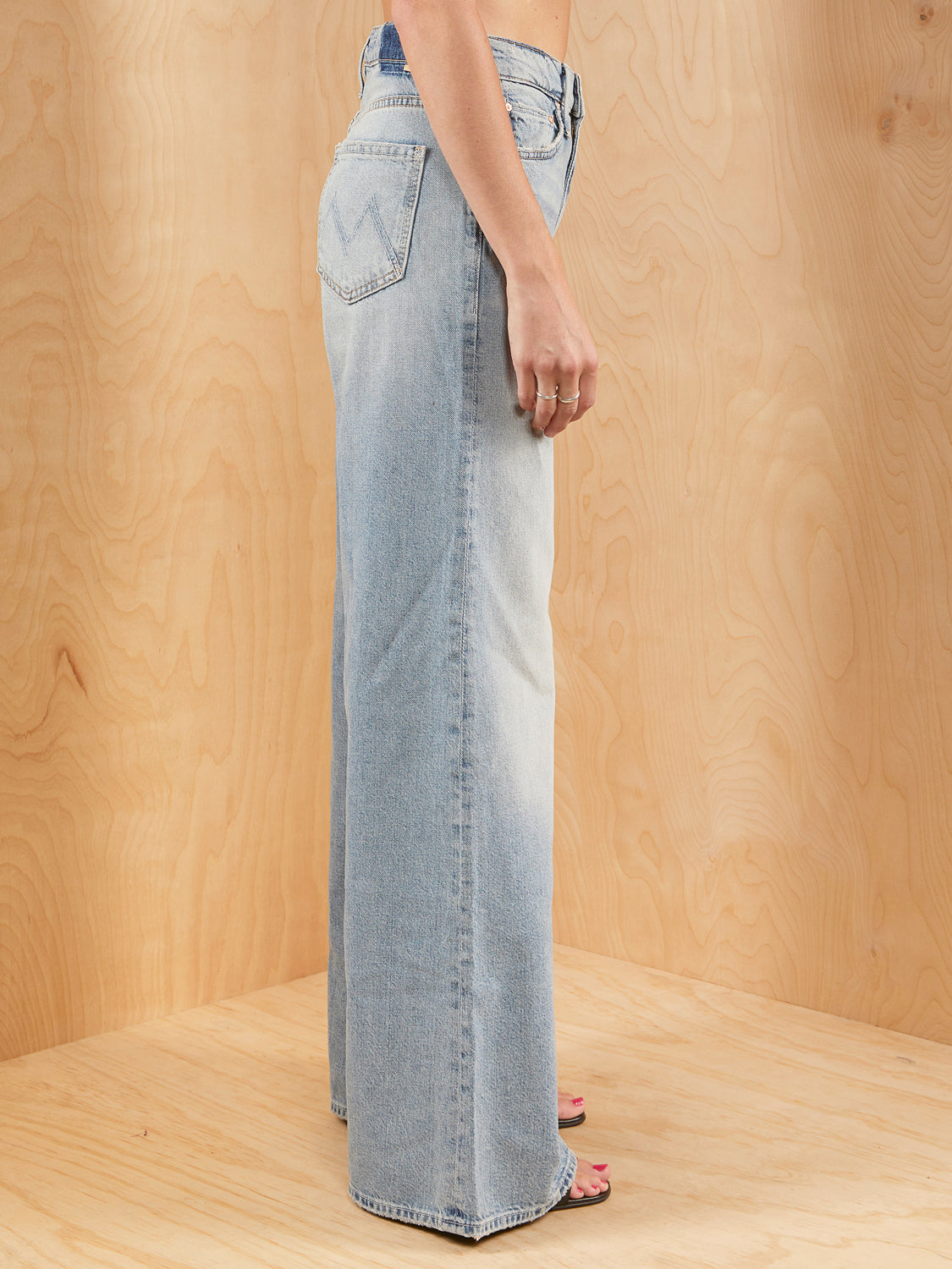 Mother Wide Leg Light Wash Denim