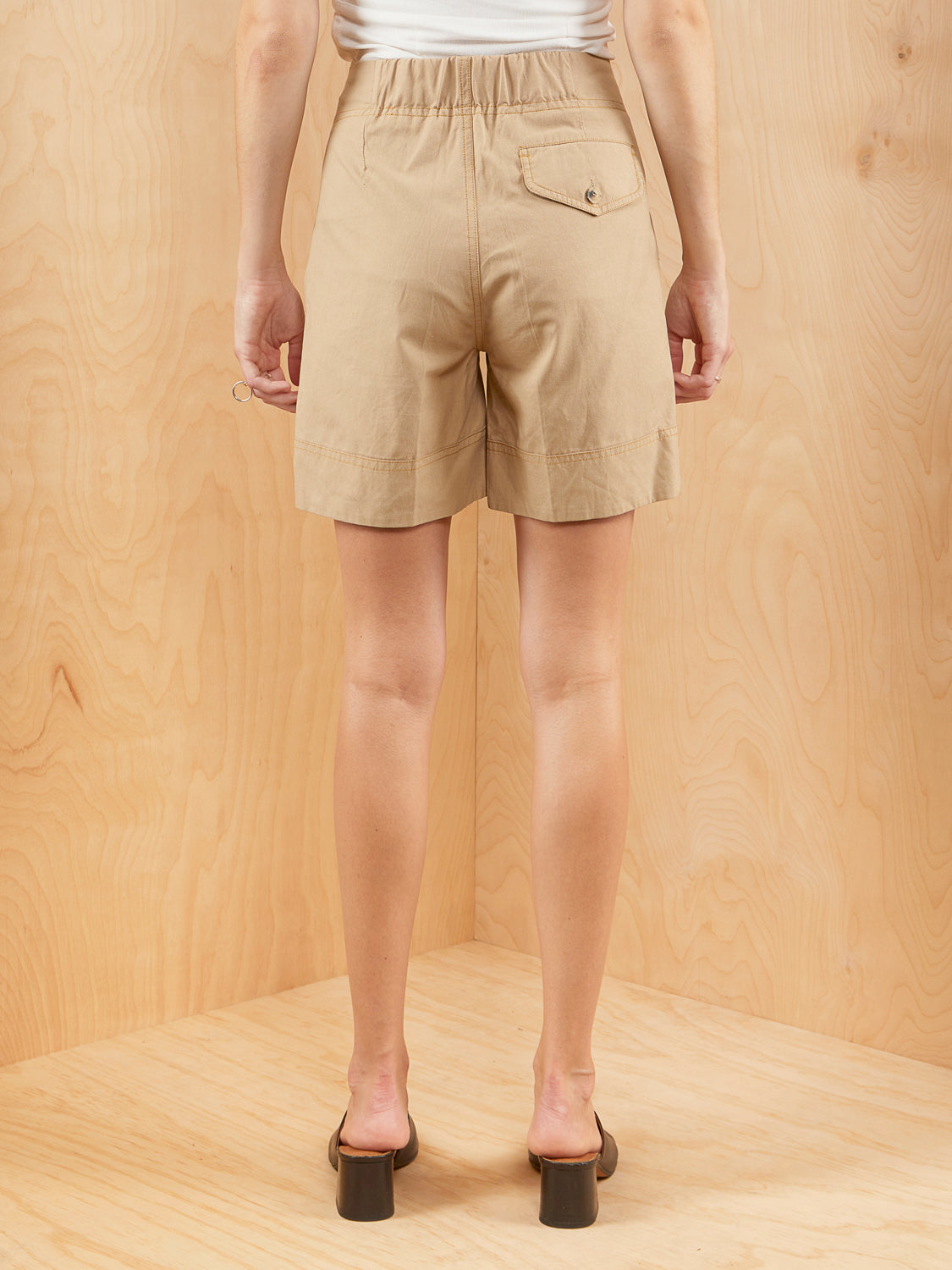 Brochu Walker High Waisted Kahki Shorts