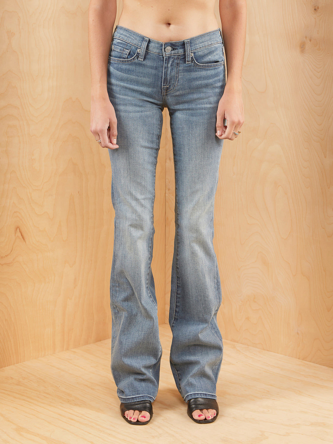 7 For All Mankind Bootcut Jeans Lighwash