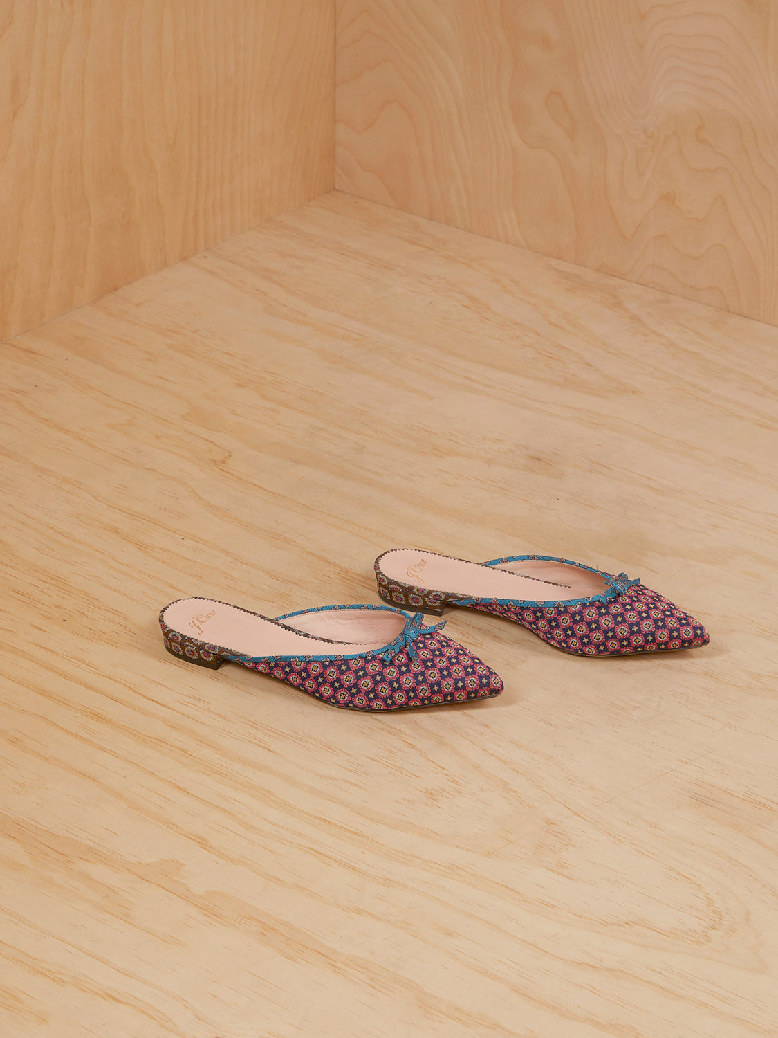 J Crew Patterned Pointed Slides