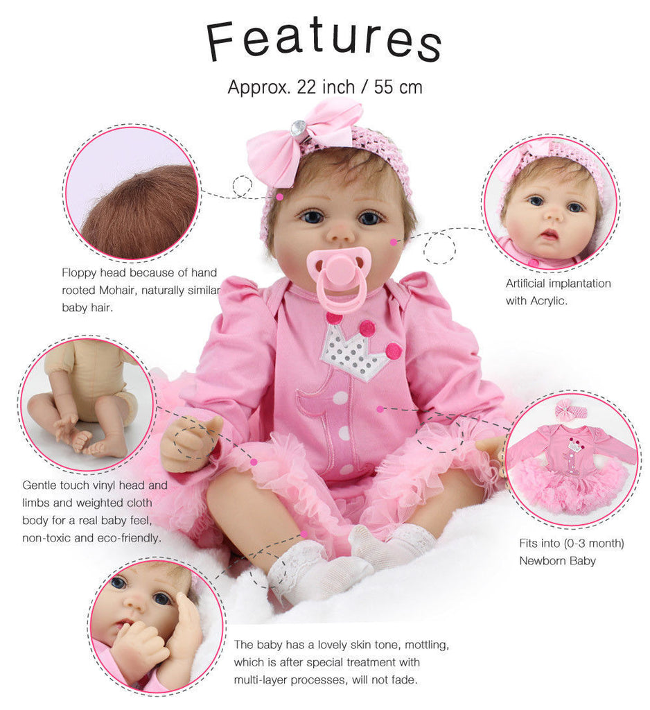 d4f729726e2da Baby Doll & Doll Accessories Ethnic Realistic Baby and Lifelike Baby ...