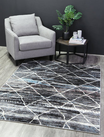 Madison Moroccan Trellis Blue Grey Rug - Buyrug - Online Rug Buy Store