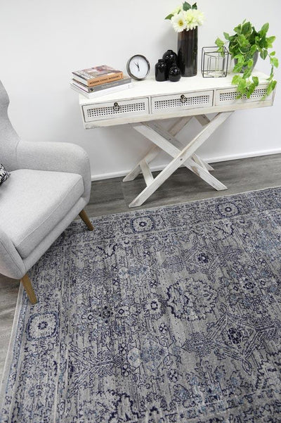 Arya Light Grey Ziegler Traditional Ikat Rug - Buyrug - Online Rug Buy Store