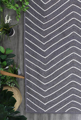 Artisan Grey Natural Chevron Rug