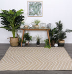 Artisan Light Beige Natural Chevron Rug