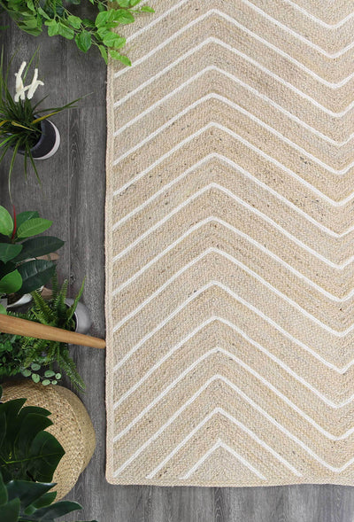 Artisan Light Beige Natural Chevron Rug - Buyrug - Online Rug Buy Store