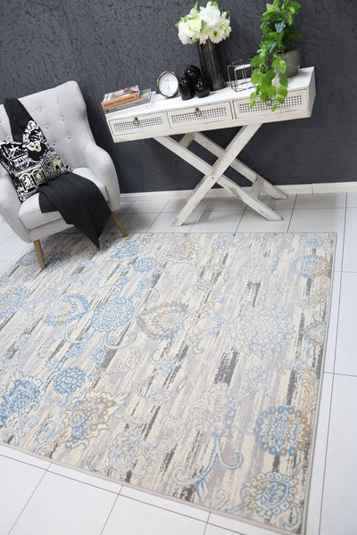 Dash Grey and Blue Transitional Rug - Buyrug - Online Rug Buy Store