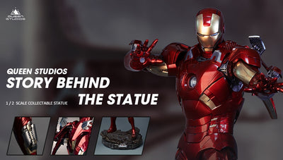 Queen Studios 1/2 Iron Man Mark 7 Story Behind The Statue