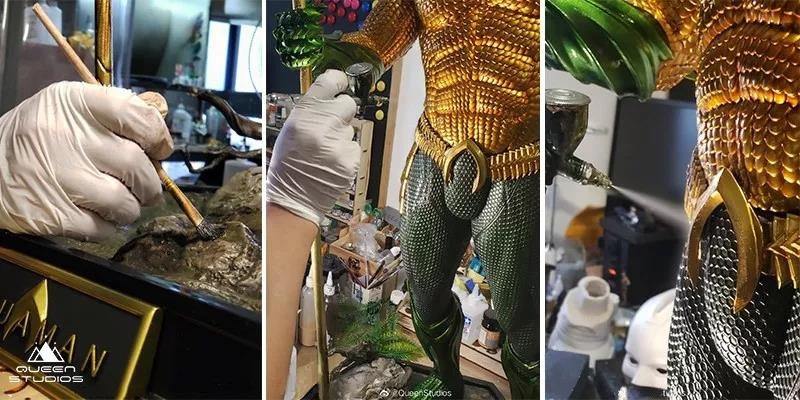 Spraying and Adding Colour To Queen Studios' Aquaman 1:2 Statue