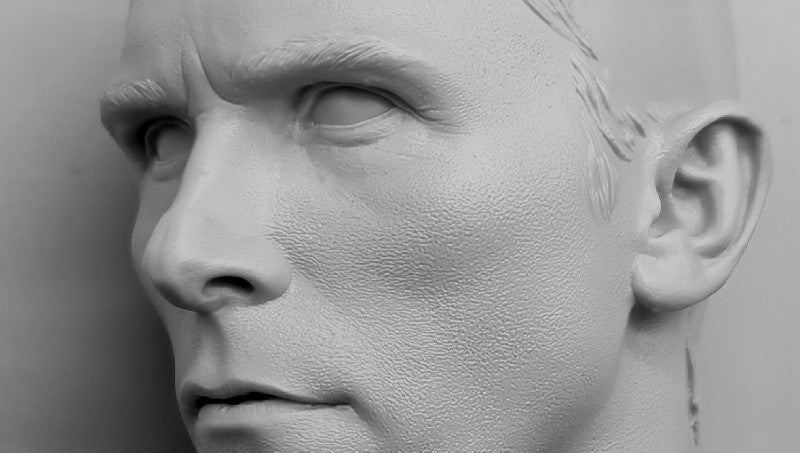 Bale Head Sculpt Grey 3D Print