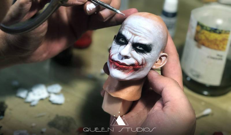 Queen Studios 1:3 Joker Heath Ledger Jail Scene Head Sculpt