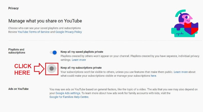 Privacy Settings Off YouTube