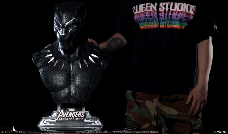 Queen Studios Black Panther Bust at Toulouse Game Show