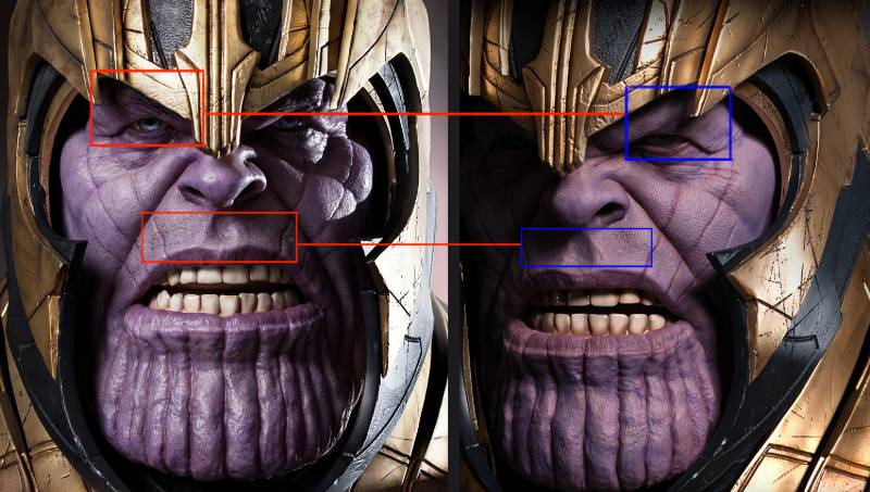 Queen Studios Thanos Bust Improvements Eyebrows Removed