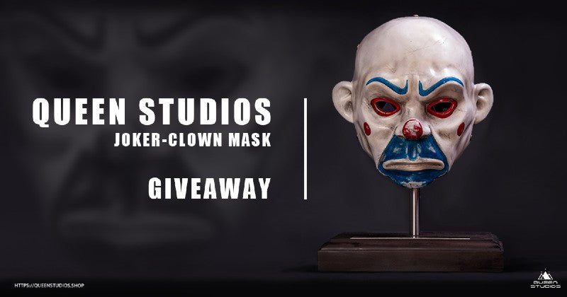 Queen Studios Second Anniversary Giveaway Joker-clown mask