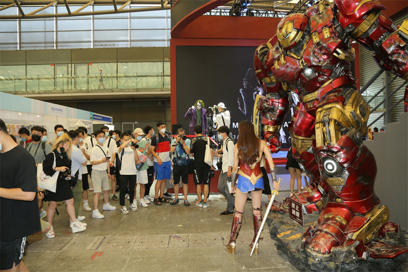 queen studios booth at China Joy Expo 2021
