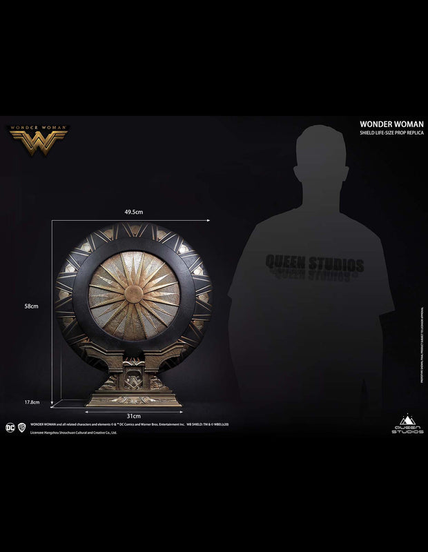 Wonder Woman Shield and Stand Special Edition Queen Studios