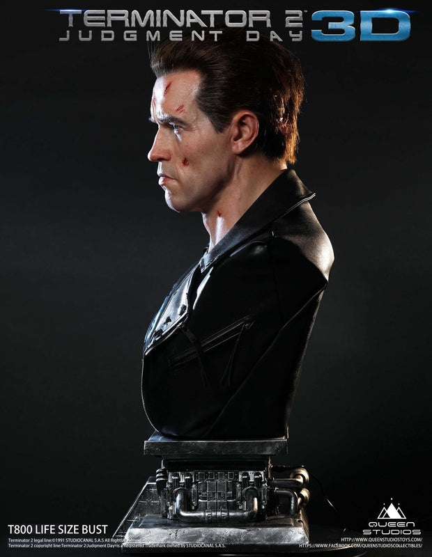 Terminator T-800 1:1 Lifesize Bust by Queen Studios