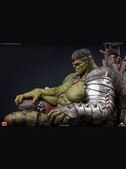 Collectible Hulk on Throne Statue.