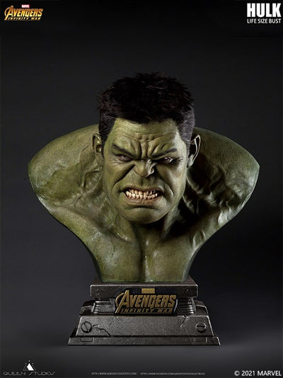 Queen Studios Collectibles Lifesize Hulk Bust