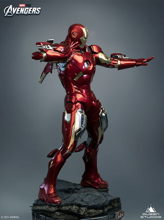 Queen Studios Iron Man MK7 collectible statue