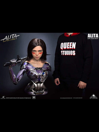 Queen Studios Alita Battle Angel 1-1 Lifesize Bust Special Edition