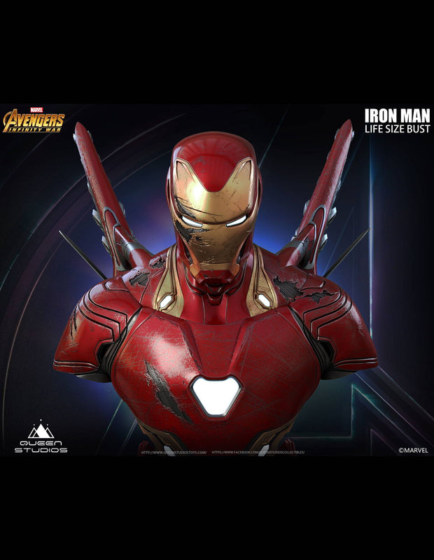 Iron Man bust created by Queen Studios
