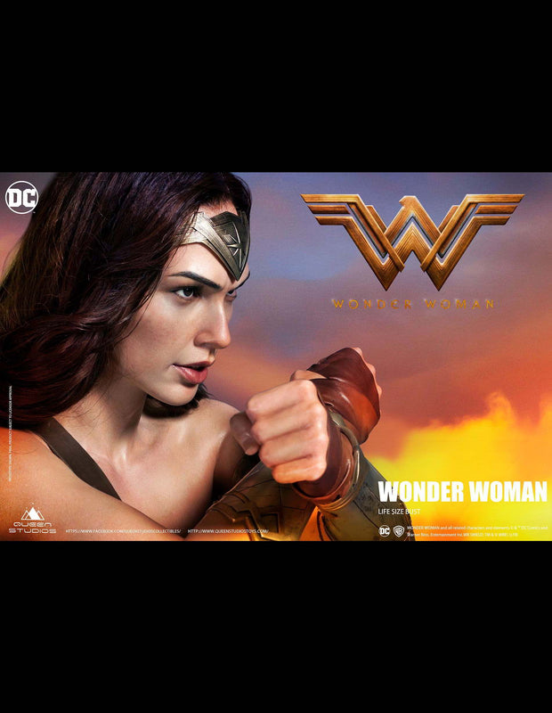 Wonder Woman lifesize bust collectible by Queen Studios