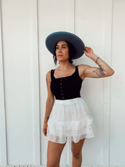 Étoile White Skirt