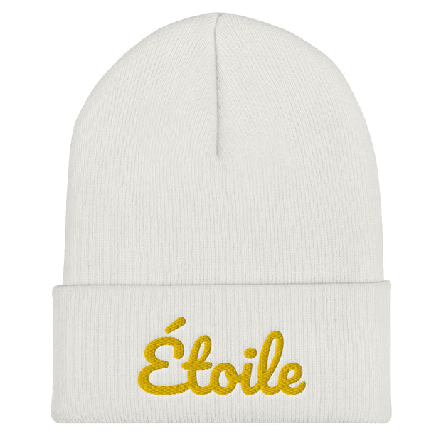 PREORDER Étoile Cuffed Beanie - Gold Embroidery