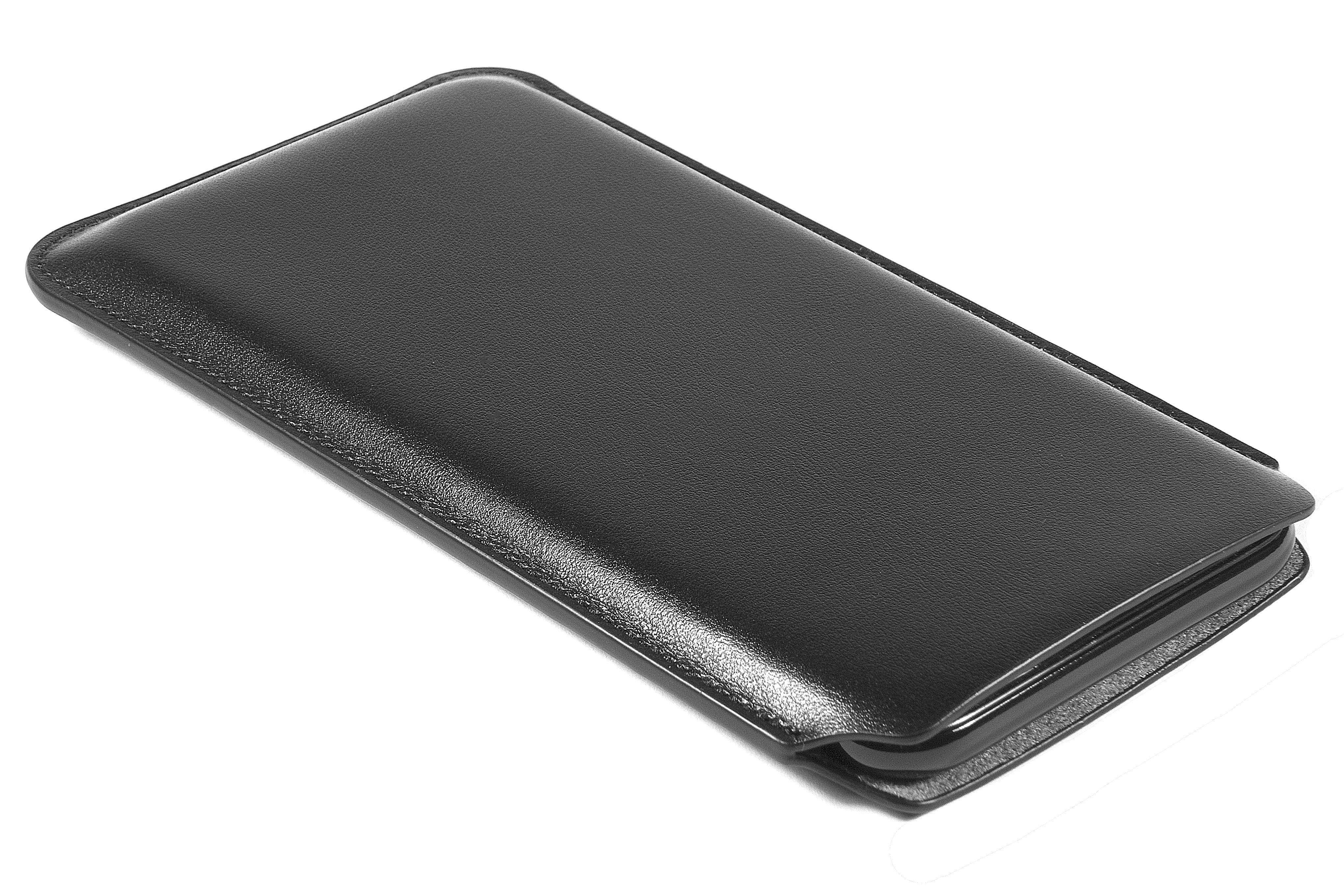 newest b3554 8174c iPhone X / XS Leather Case Pouch - Skinny Fit - Black