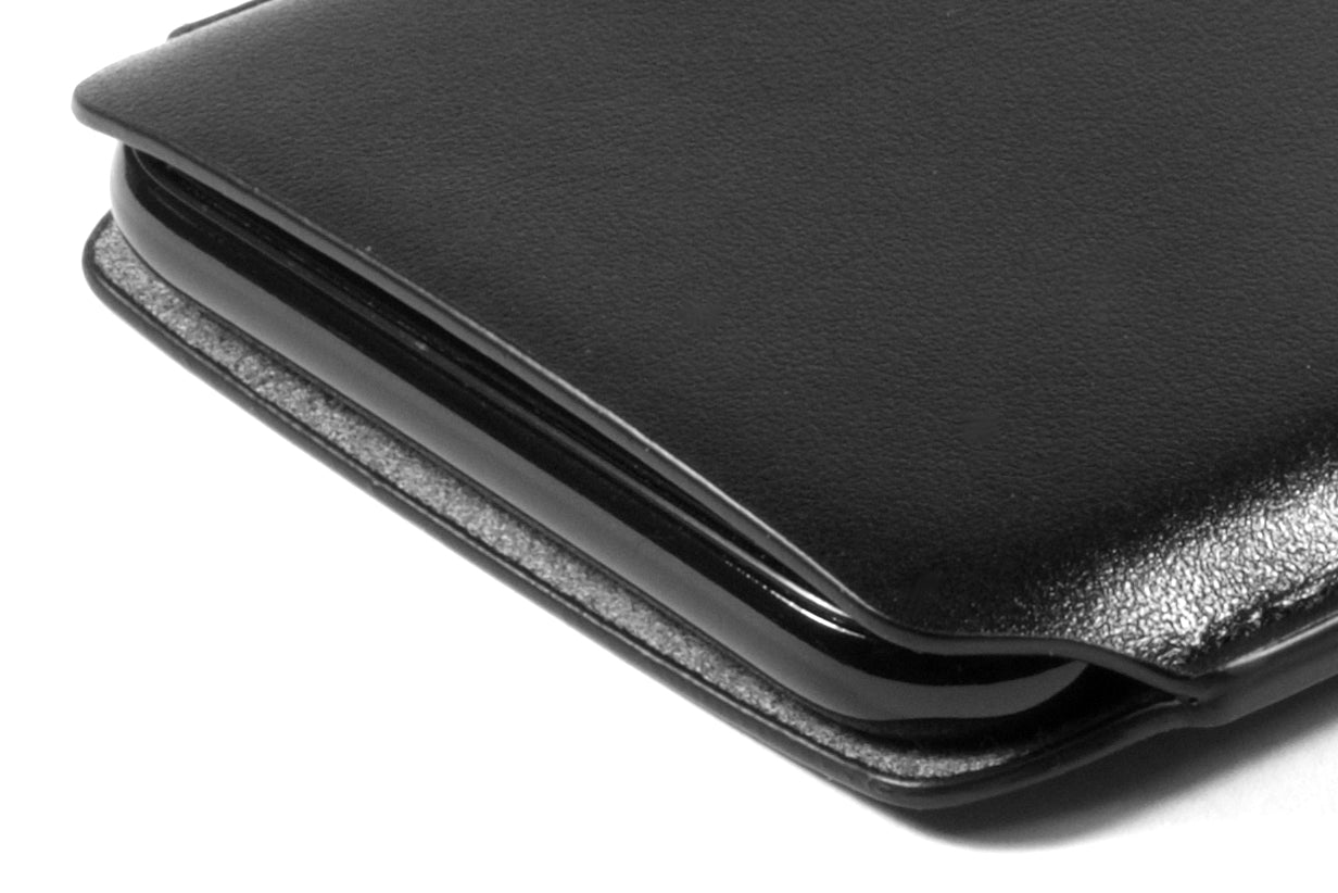 newest a5760 4b620 iPhone X / XS Leather Case Pouch - Skinny Fit - Black