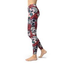 Load image into Gallery viewer, Rose Skull Leggings - Earthroots