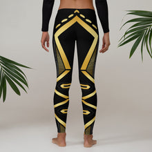Load image into Gallery viewer, Leggings Geometric 4 (Black) - Earthroots