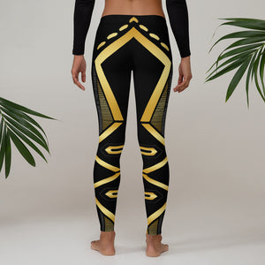 Leggings Geometric 4 (Black) - Earthroots
