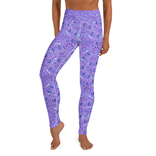 Cute Cat Yoga Leggings - Earthroots