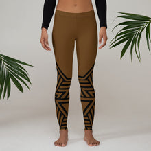 Load image into Gallery viewer, Leggings Geometric 6 (Brown) - Earthroots