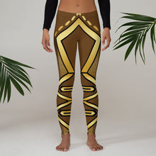 Laden Sie das Bild in den Galerie-Viewer, Leggings Geometric 4 (Brown) - Earthroots