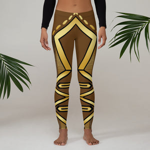 Leggings Geometric 4 (Brown) - Earthroots