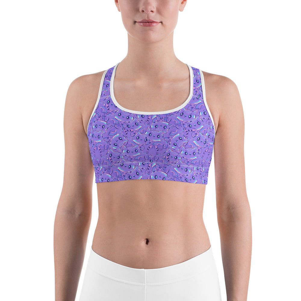 Cute Cat Sports bra - Earthroots