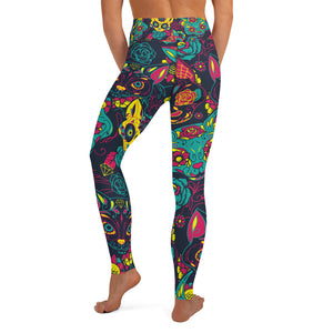 Crazy Cat Yoga Leggings - Earthroots