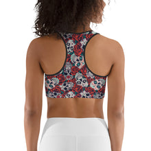 Load image into Gallery viewer, Rose Skull Sports bra - Earthroots