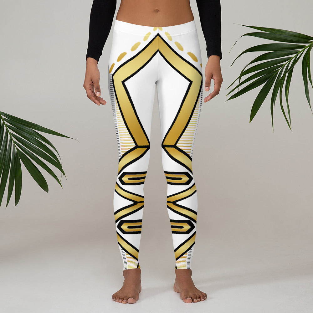 Leggings Geometric 4 (White) - Earthroots
