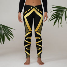 Laden Sie das Bild in den Galerie-Viewer, Leggings Geometric 4 (Black) - Earthroots