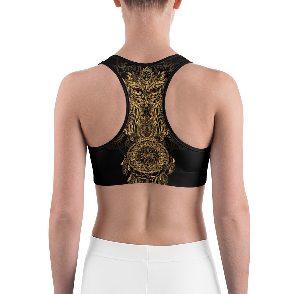 Dreamcatcher Owl Sports bra - Earthroots
