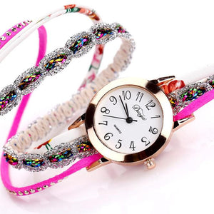 <B>JOY OF LIFE</B> | Orologio braccialetto per donna e ragazza colore <B>FUCSIA</B> (<I>Woman and girl bracelet watch PURPLE</I>)