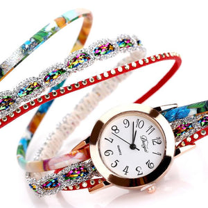 <B>JOY OF LIFE</B> | Orologio braccialetto per donna e ragazza colore <B>ROSSO</B> (<I>Woman and girl bracelet watch RED</I>)