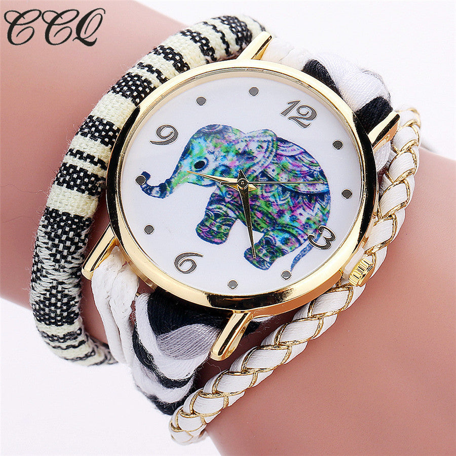 <B>ELEPHANT</B> | Orologio braccialetto per donna e ragazza colore <B>BIANCO</B> (<I>Woman and girl bracelet watch WHITE</I>)