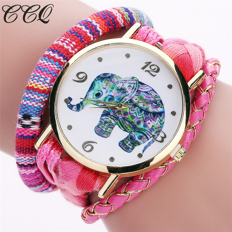 <B>ELEPHANT</B> | Orologio braccialetto per donna e ragazza colore <B>ROSA</B> (<I>Woman and girl bracelet watch PINK</I>)