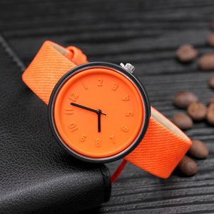 <B>PLASTIC COLORS</B> | Orologio UNISEX per donna, uomo, ragazza e ragazzo colore <B>ARANCIONE</B> (<I>UNISEX watch for men, woman, girl and boy ORANGE</I>)